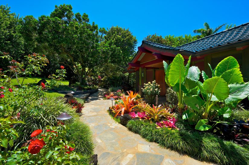 Sea song kauai villa rental view of the gardens