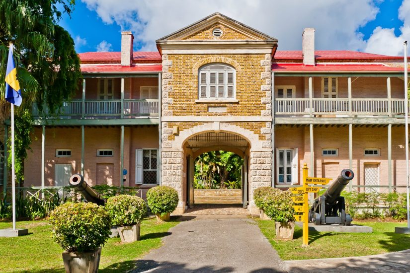 This enriching Barbados attraction, Museum & Historical Society, sits confidently on the green lawn with ancient canons at its entrance.