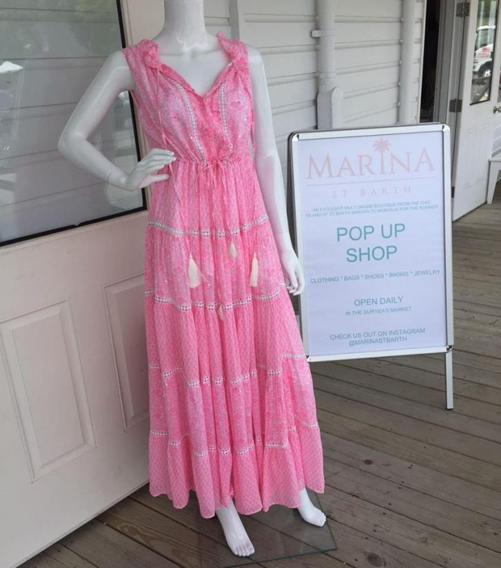 If you are looking for things to do in St Barth's, then why not spend a day in the beautiful boutiques. You will be sure to find something lovely to wear like this soft pink sun dress
