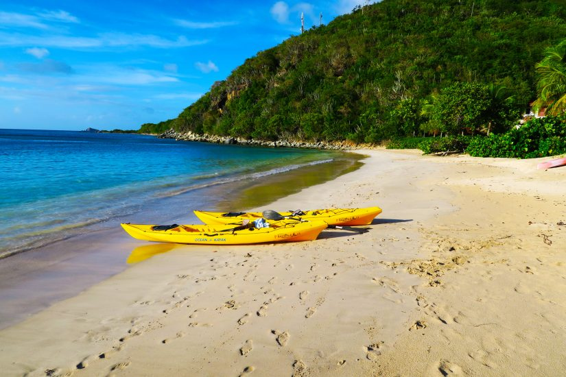Mahoe Bay Beach is perfect for taking out your steady Kayaks on the calm blue/green waters.