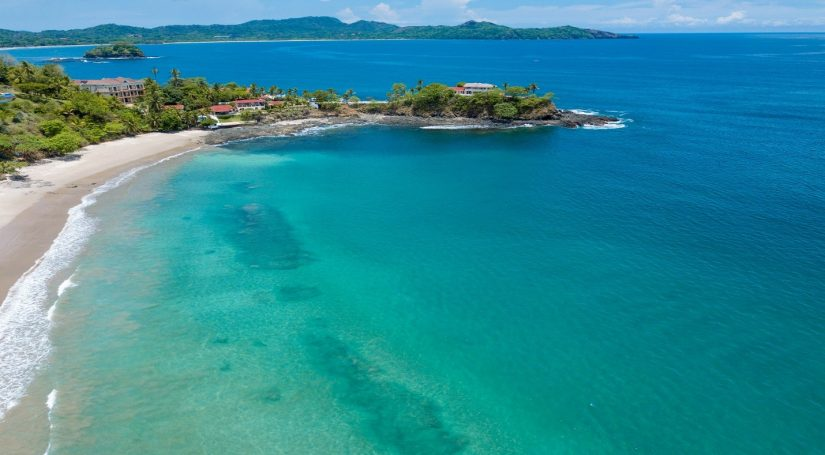 Caribbean beachfront rentals are located along the coast, indulging in captivating views across the Sea