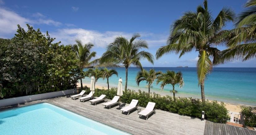 Villa Ella in St Barts is definitely one of the most exclusive Caribbean beachfront rentals