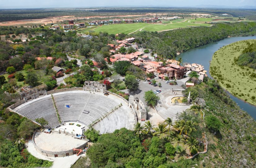 AN Aeirel view of the spectacular Altos De Chavon
