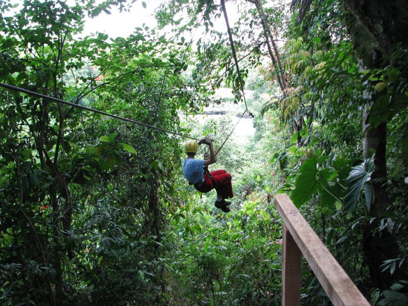 Costa Rica activities offer Eco Zip-lining through the jungles, enjoy this birds eye view of the lush landscape