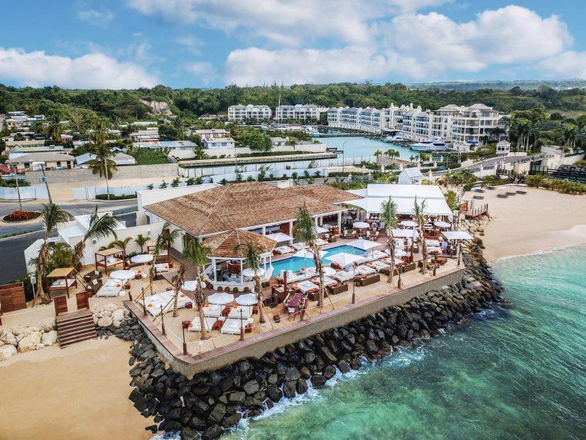 Nikki Beach restaurant and the Port Ferdinand Resort in Barbados