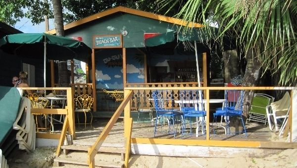 Ju Ju's beach bar at Barbados. Not all of the top restaurants in Barbados are fine dining