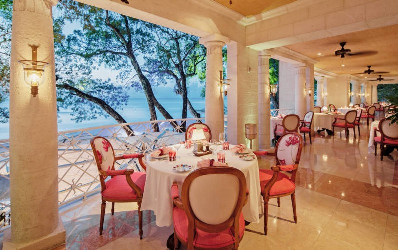 L'Acajou restaurant at the Sandy Lane Hotel