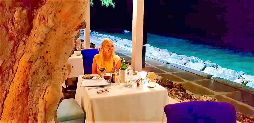 Oceanside dining in Barbados at the Tides restaurant