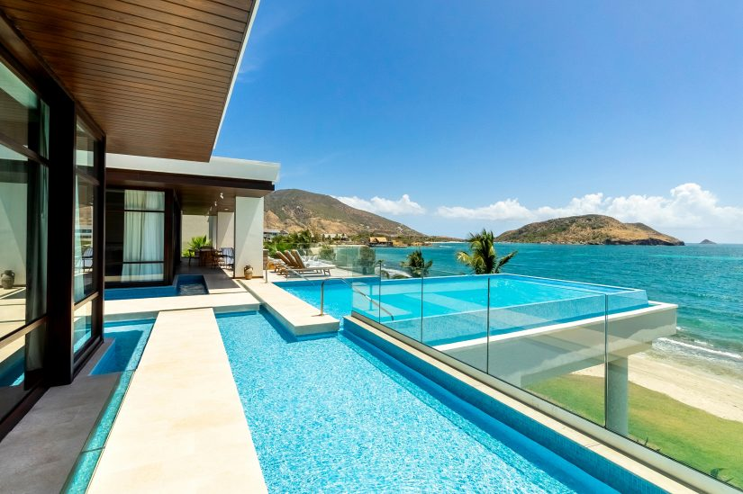 View from the balcony of a luxury St Kitts villa
