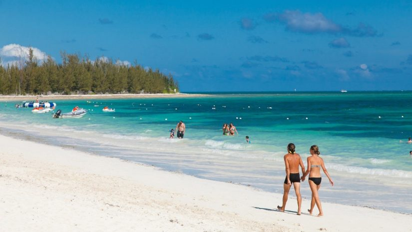 Taino Beach is one of the best beaches in the Bahamas with incredible views and its very own beach bar