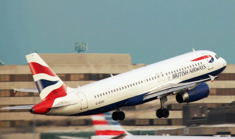 A British Airways jet takes of from London Gatwick