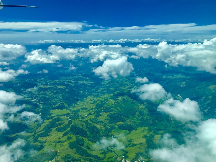 Aerial shot of costa rica. It's really green