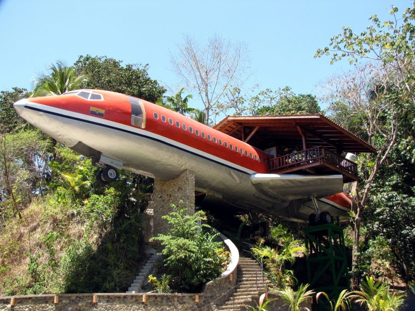 A house made from a small passenger jet in Costa Rica