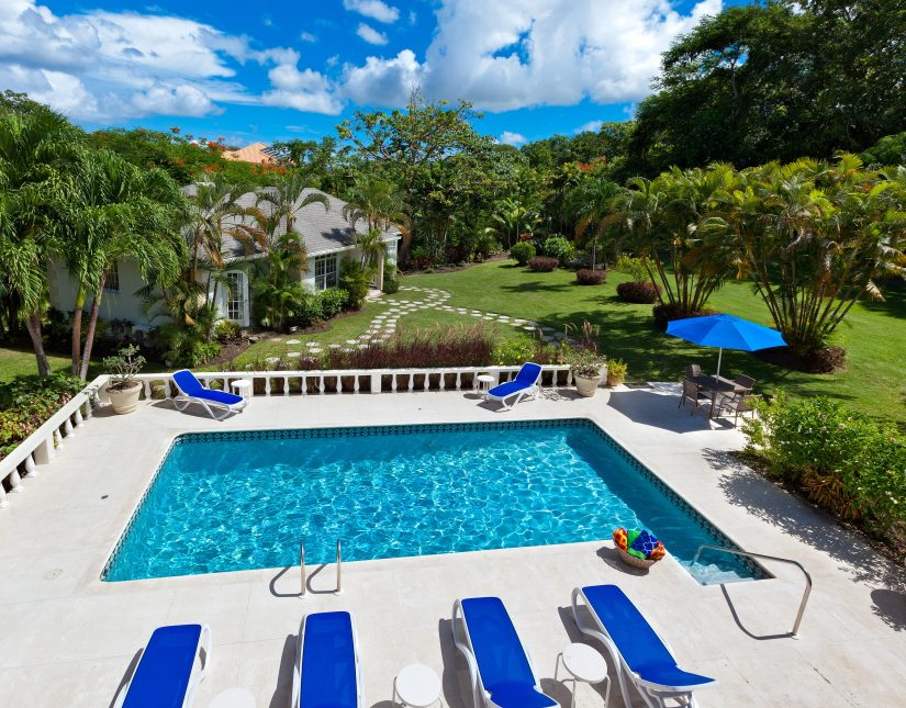 Elevated view of the Rose Of Sharon Holiday home in Barbados