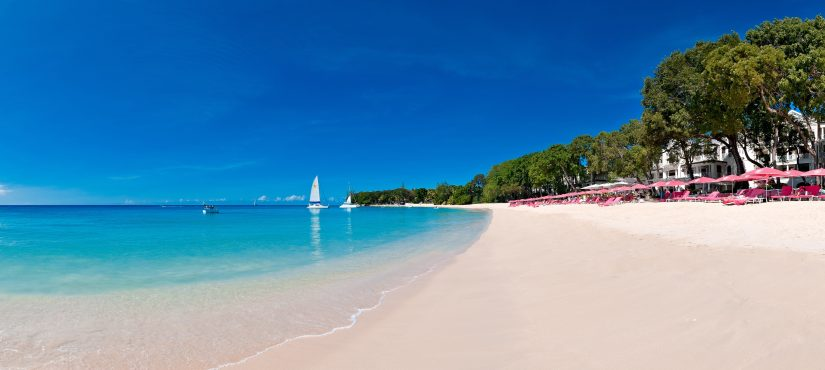 The expansive Sandy Lane Beach