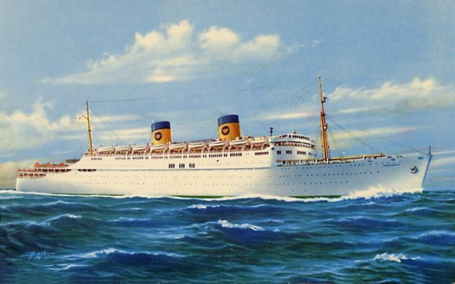 A picture of a steam ship