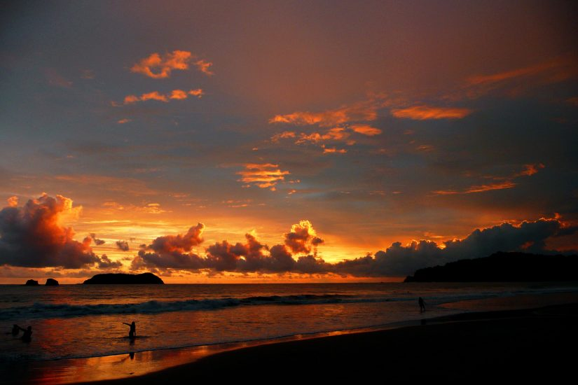 The beaches are some of the best places to visit in costa rica, overlooking the dazzling Pacific Ocean.