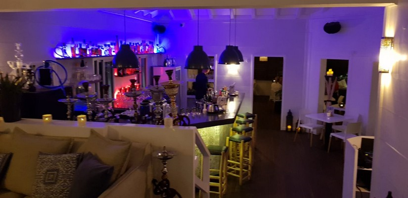 The hookah lounge at Ociela Restaurant, St Barts
