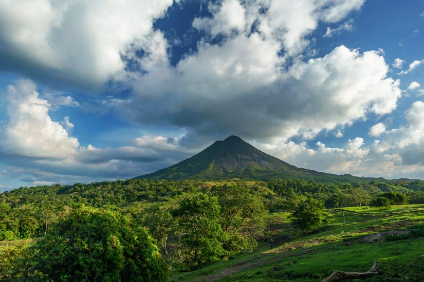 Places to visit in costa rica include the captivating volcanoes that are embedded in the lush jungles.