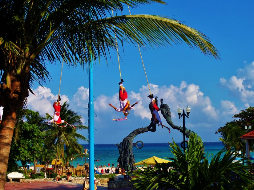 For some more upbeat and fun-filled mexico beach destinations, visit Parque Fundadores in Playa Del Carmen