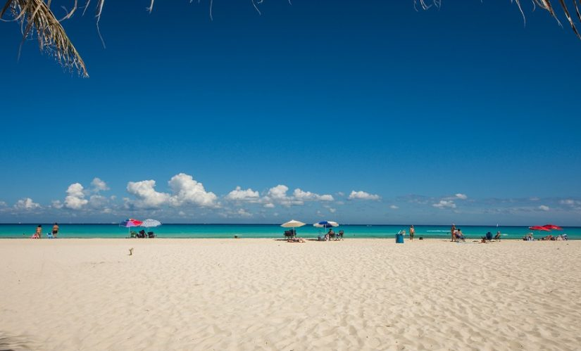 Along the map of mexico beaches is the famous Playa del Carmen, a luxurious, white powdery beach