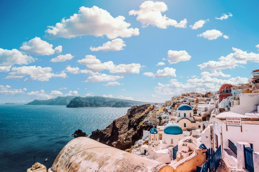 One of the best places to honeymoon is along the Amalfi coast in Italy, or perched overlooking the sea in Santorini