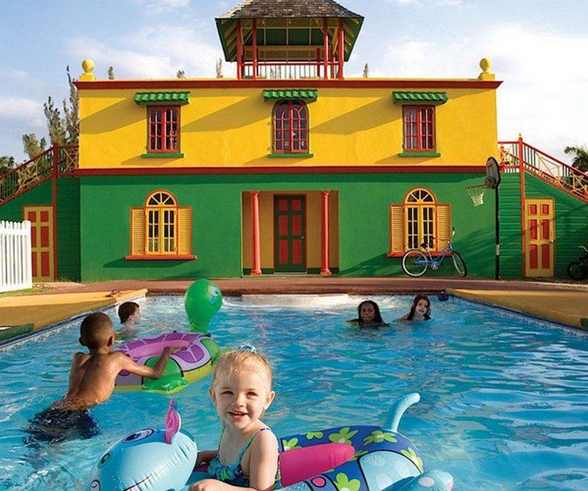 kids swimming at half moon jamaica