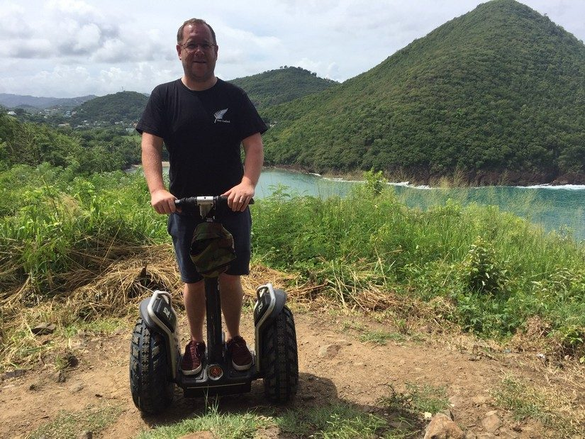 Paul on a Segway Tour in St Lucia