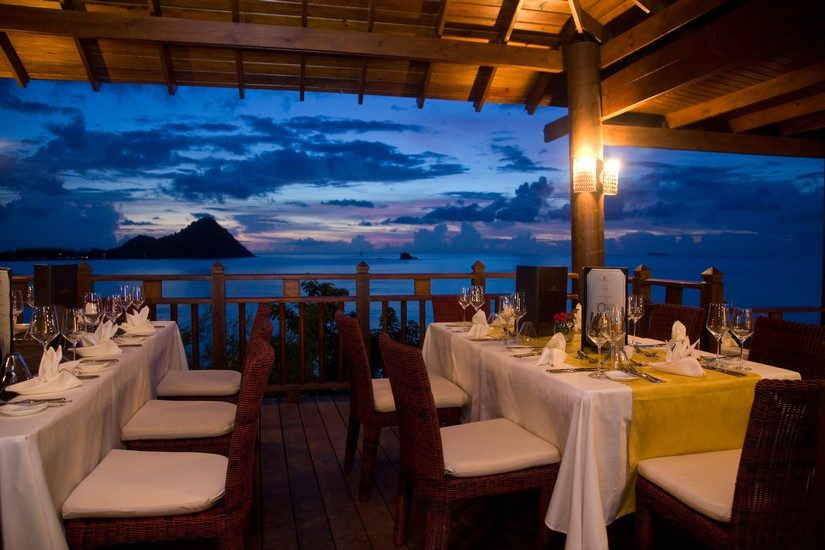 dining at cap maison st lucia