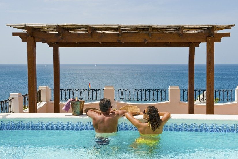 Roof Terrace with Pool at Cap Maison St Lucia