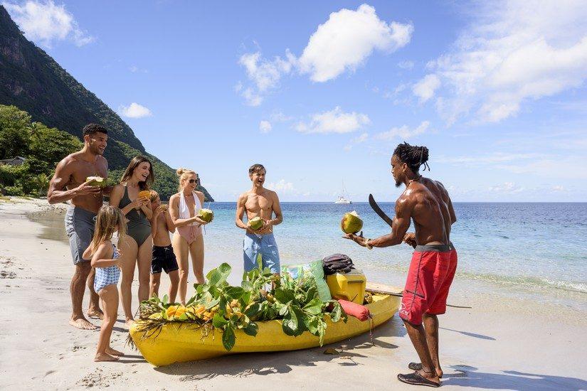 coconuts at Sugar Beach St Lucia Resort