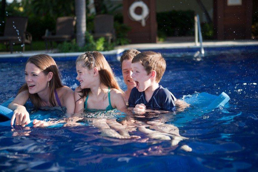 kids in pool st lucia resort