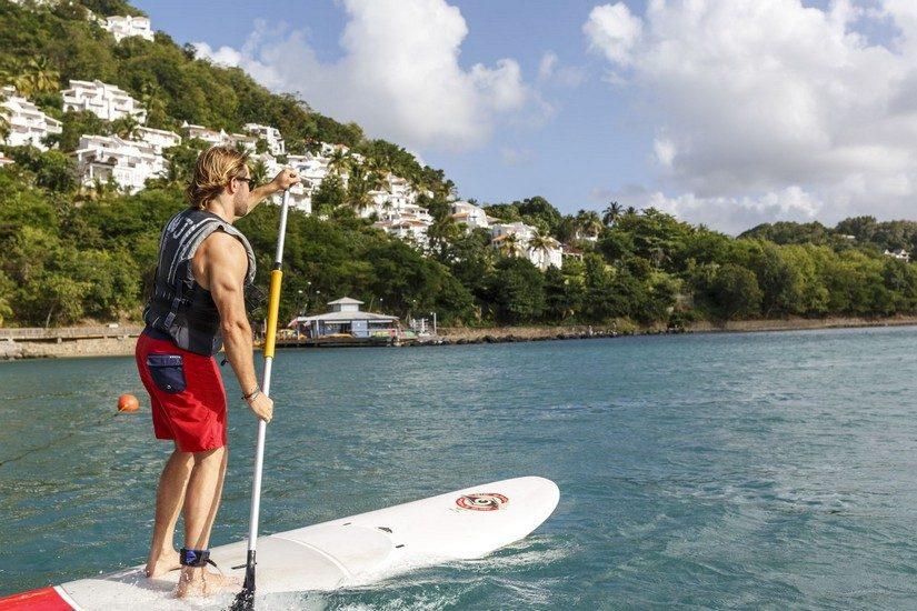 Paddleboarding at Windjammer