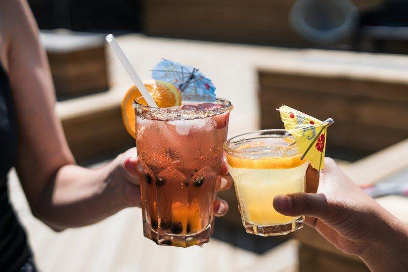 enjoy cocktails at Elvis beach bar in Sandy Ground Beach Anguilla