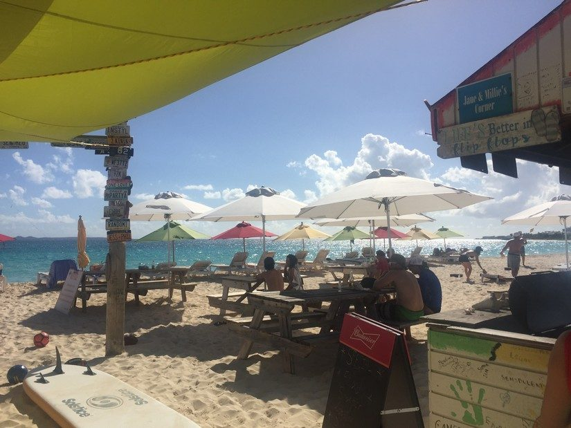 the sunshine shack on Rendezvous beach in anguilla