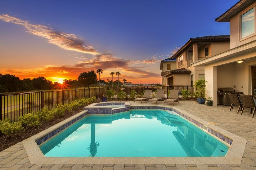 pool at a villa in encore resort in Orlando