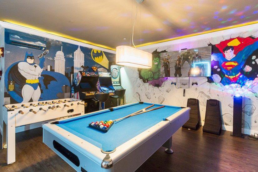games room at reunion resort villa