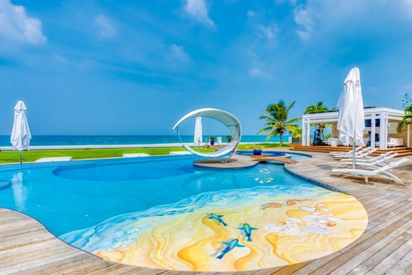 View of the pool at C'est la Vie Villa in St. Martin