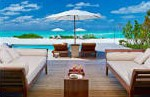 Patio sofas at the Island Villa; one of our most exclusive Turks and Caicos Rentals