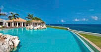 Infinity pool at Belle Etoiles in Baie aux Prunes.  One our mostr popular St Martin Villas.