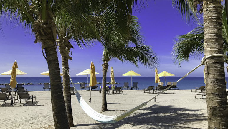 Pinney's Beach from the Four Seasons Resort