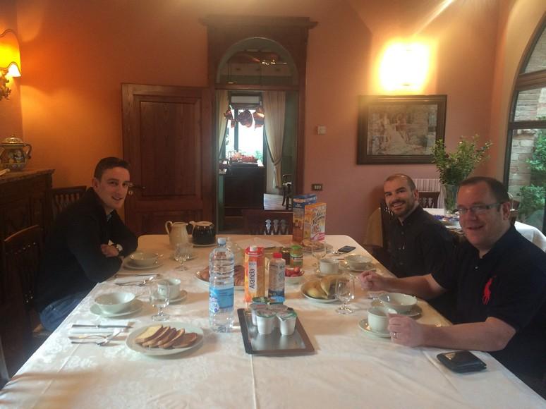 Breakfast at Villa Senese