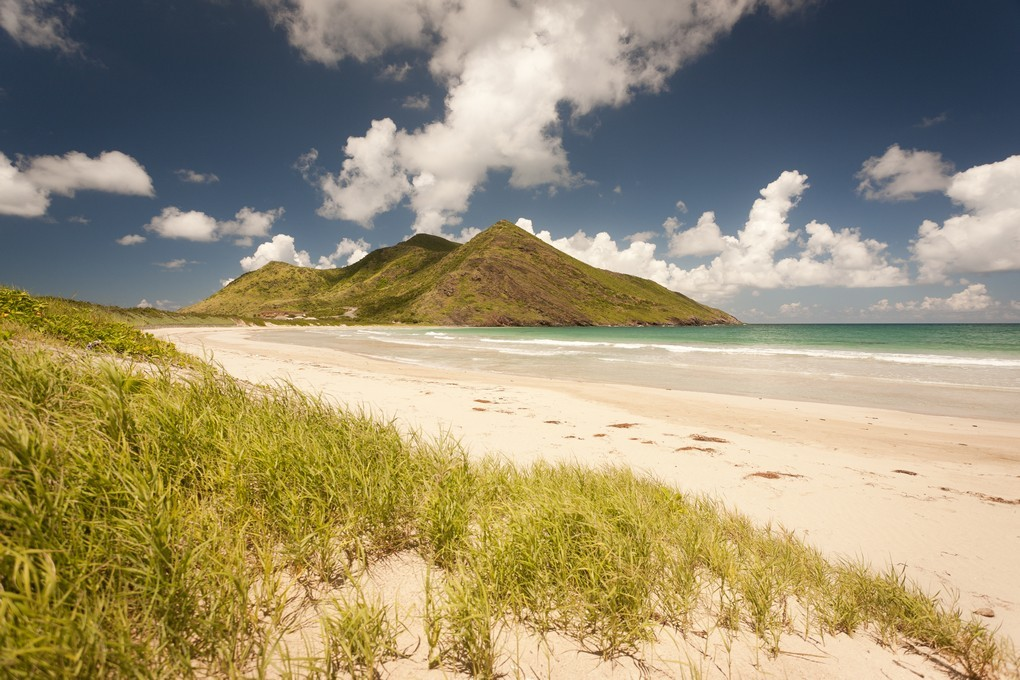 Volcanic Peaks form much of the high ground in St Kitts
