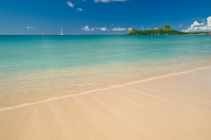 Pigeon Island National Park has one of the most attractive beaches in St Lucia
