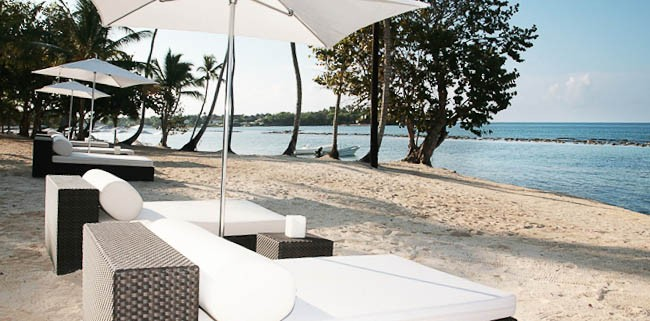 Sun loungers at the Casa de Campo resort