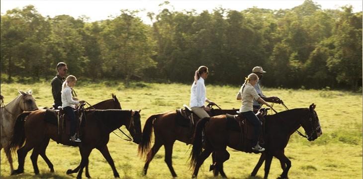 Horse riding group at Casa de Campo