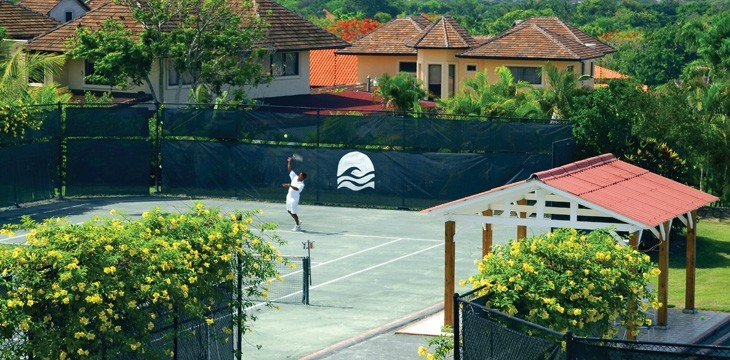 The tennis center at Casa de Campo