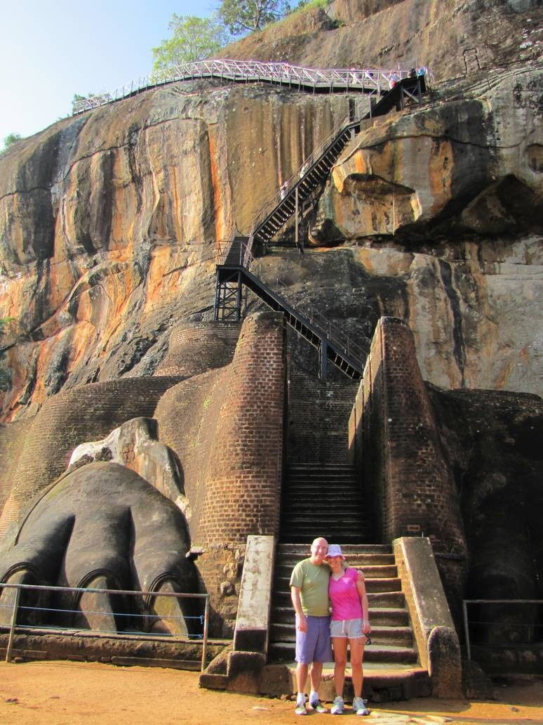 The sigiriya rock in Sri Lanka