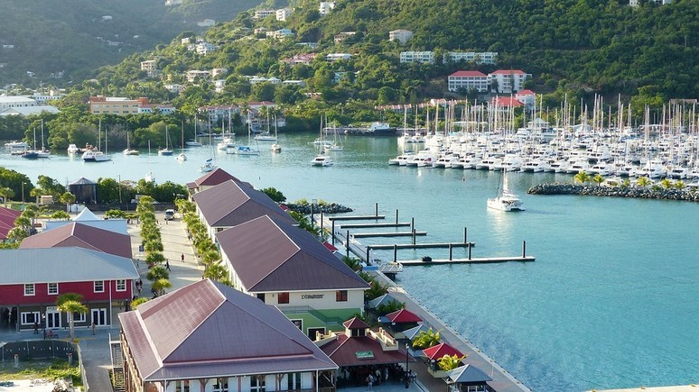 Road Town in Tortola, British Virgin Islands