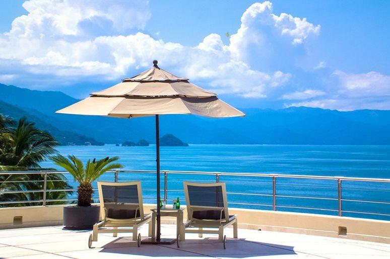 Terrace view from Bahia Villa in Puerto Vallarta